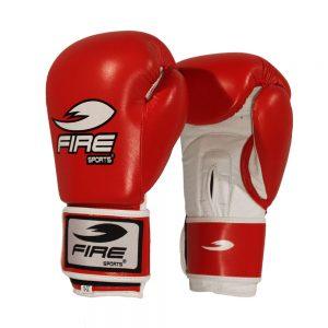 Guantes de piel oficial para competencias olímpicas Rojos