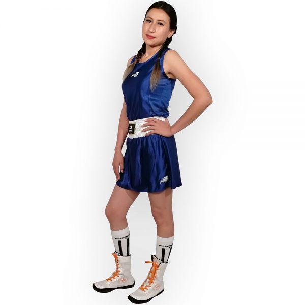 Uniforme femenil para boxeo olímpico Azul