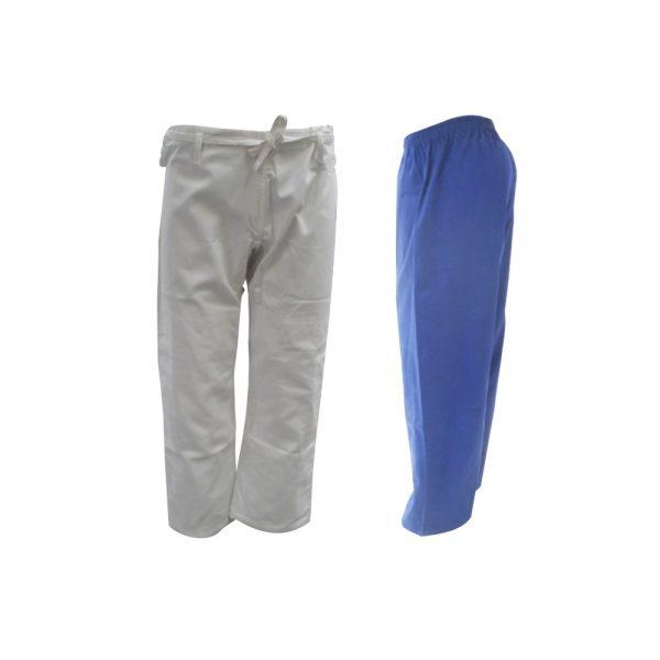 Pantalón para judogui 450 g azul