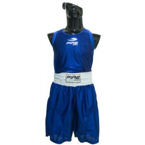 Uniforme varonil para boxeo olímpico Azul