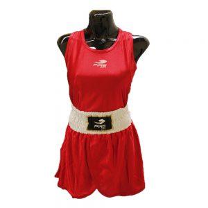 Uniforme femenil para boxeo olímpico Rojo