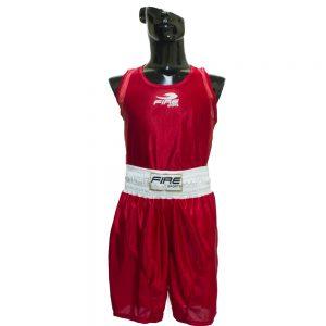 Uniforme varonil para boxeo olímpico Rojo