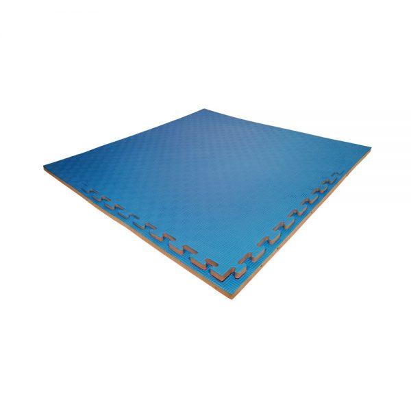 Set 10 piezas Tatami Piso Bicolor Económico Rojo-azul