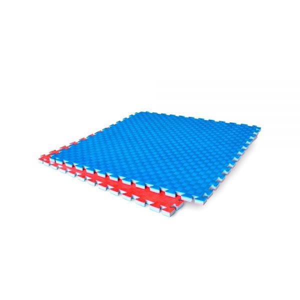 40 Tatamis ligeros para Karate 2.0cm de grosor Azul-Rojo