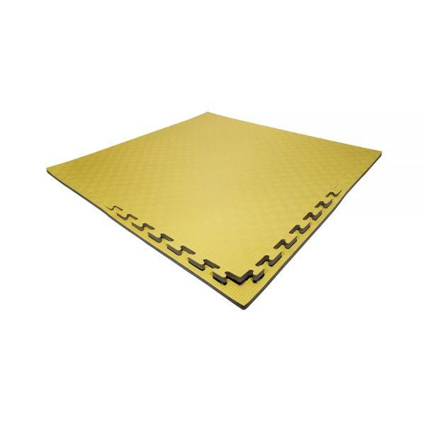 Set 10 piezas Tatami Piso Bicolor Económico Negro-Amarillo