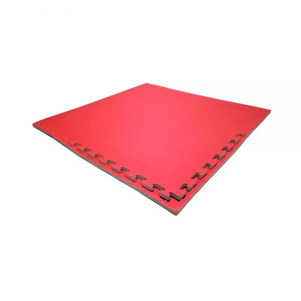 Set 10 piezas Tatami Piso Bicolor Económico Negro-Rojo