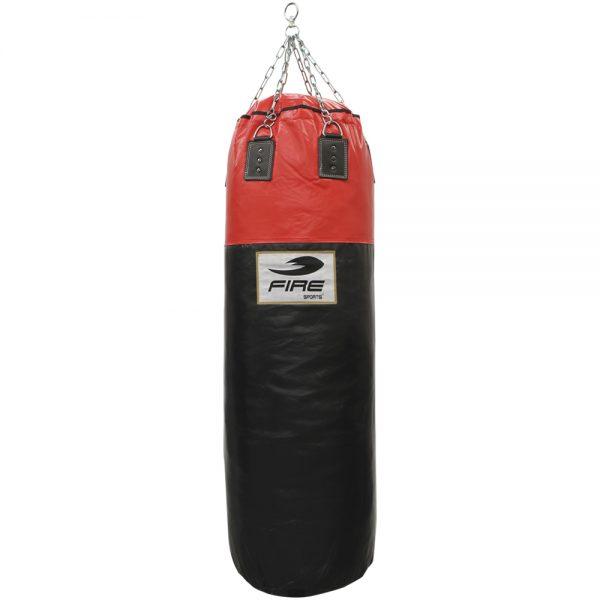 Costal Vertical 150cm x 50cm PU Negro con Rojo