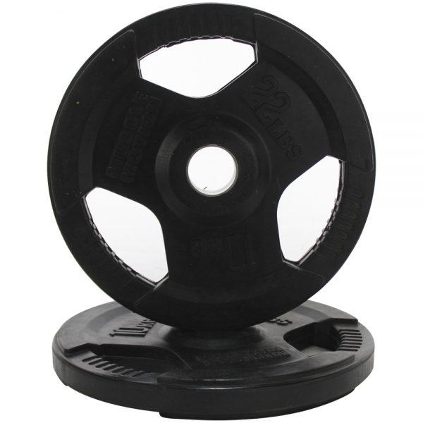 Par de Discos Olimpicos de Caucho Muscle Motion 10kg Negro