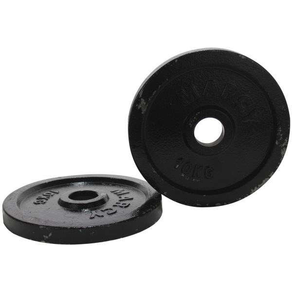 Par de Discos Olimpicos de Metal Marcy Negro 10kg