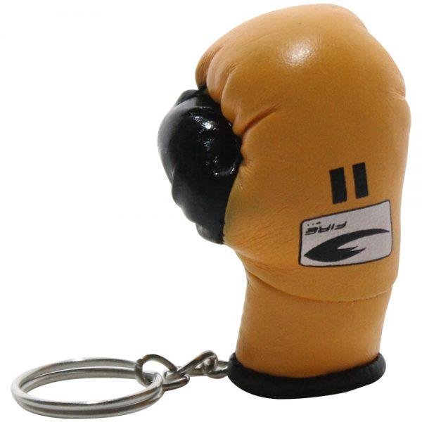 Llavero souvenir guante de box Dorado
