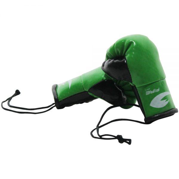 Par de mini Guantes de box para retrovisor Verde