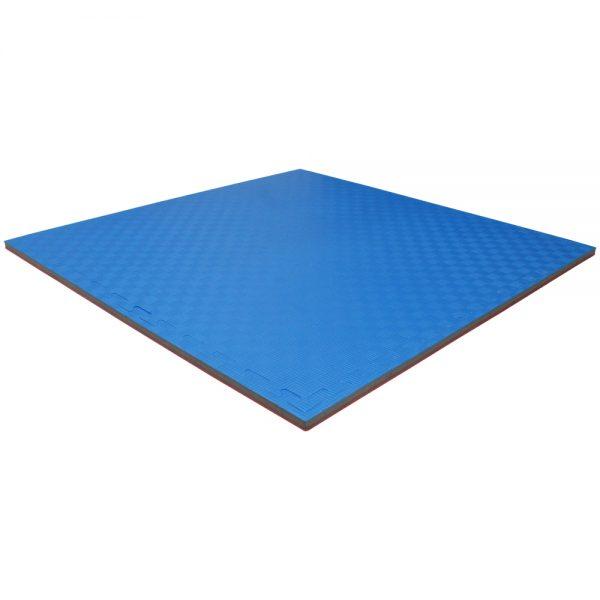 Set 5 piezas Tatami Piso Bicolor Económico Rojo-azul