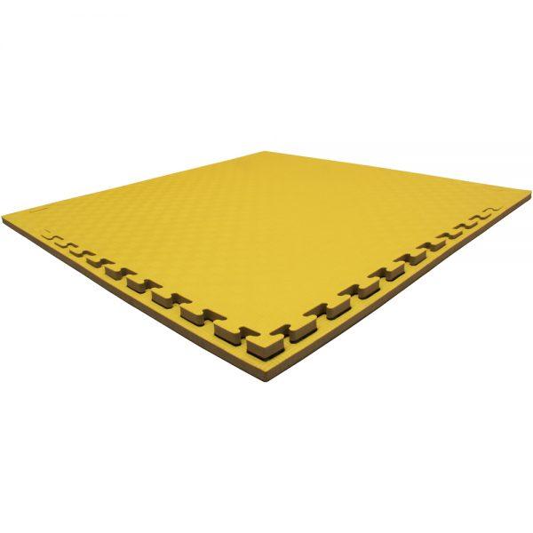 Set 5 piezas Tatami Piso Bicolor Económico Negro-Amarillo