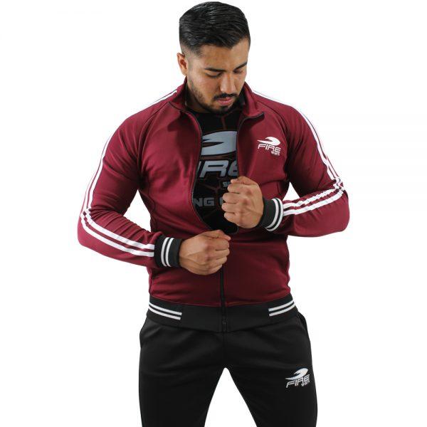 Conjunto Deportivo Pants Fire Sports corte Slim Fit 2 franjas