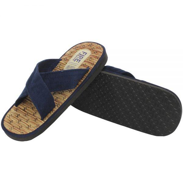 Sandalias de judo modelo cruzado Azul