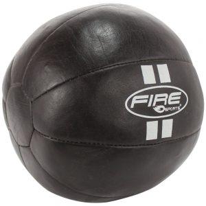 Balón o bola Medicinal de Piel 8Kg café oscuro