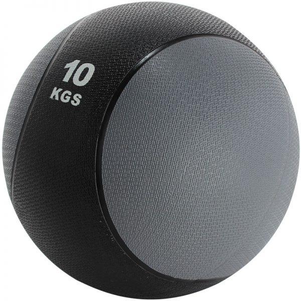Balón medicinal de PVC 10kg Gris-Negro
