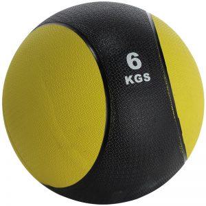 Balón medicinal de PVC 6kg Amarillo-Negro