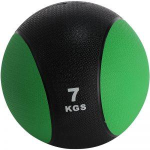 Balón medicinal de PVC 7kg Verde-Negro