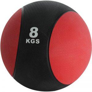 Balón medicinal de PVC 8kg Rojo-Negro