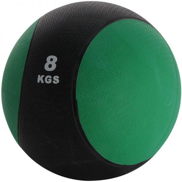 Balón medicinal de PVC 8kg Verde-Negro