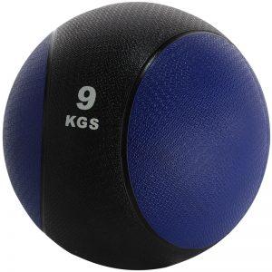 Balón medicinal de PVC 9kg Azul-Negro