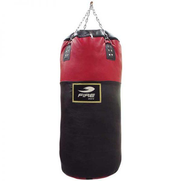 Costal o saco Vertical grande de Box 110cm x 50cm piel rojo con negro