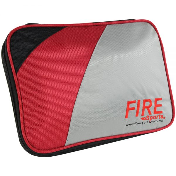 Funda o estuche rectangular para raqueta de tenis de mesa Rojo-Gris