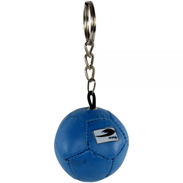 Souvenir llavero de balon de futbol antiestres Azul