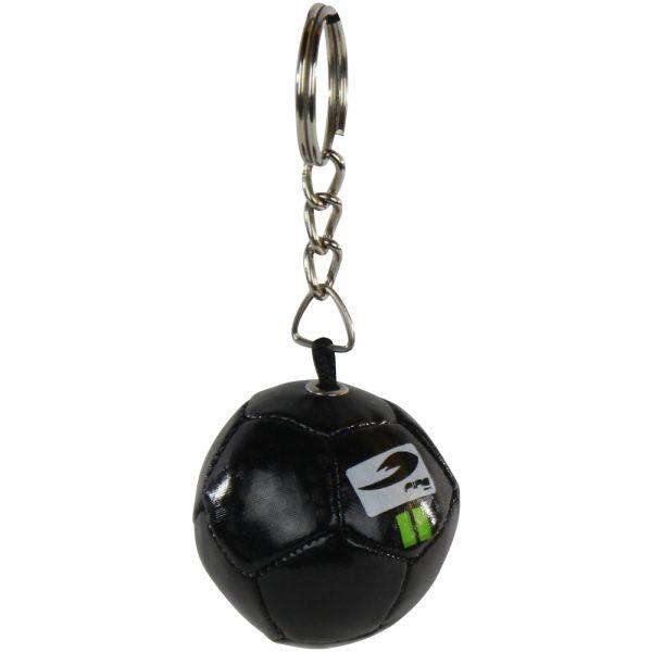 Souvenir llavero de balon de futbol antiestres Negro