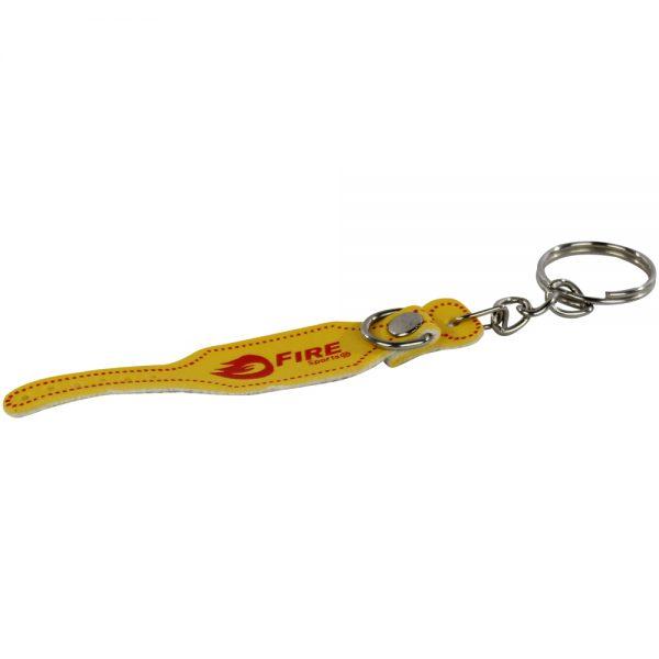 Llavero souvenir cinturon para levantamiento de pesas Amarillo