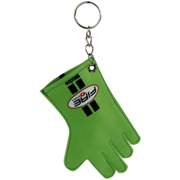 Souvenir llavero de guante de esgrima Verde