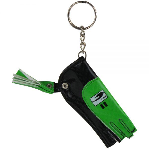 Souvenir llavero guante de portero para Negro-Verde