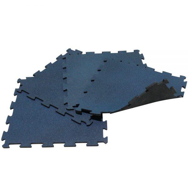 1m2 de piso tipo puzzle de caucho para gimnasio Azul