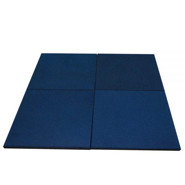 1m2 de piso de caucho de alta densidad para gimnasio Azul