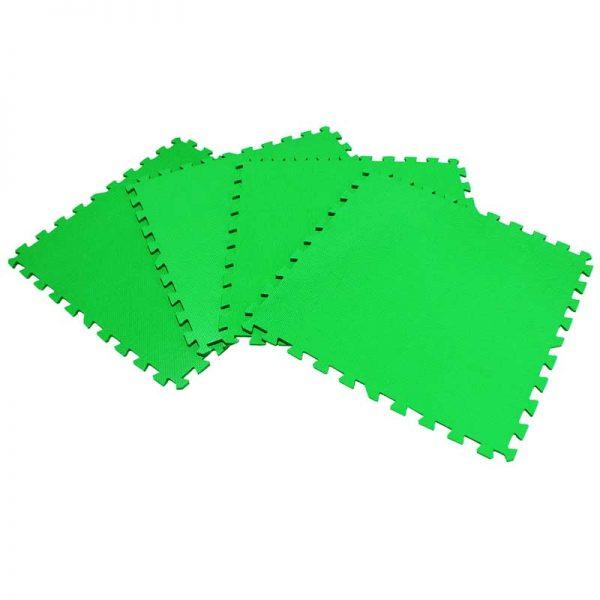 Piso suela de eva foam tipo puzzle. Set de 4 pzas, color Verde