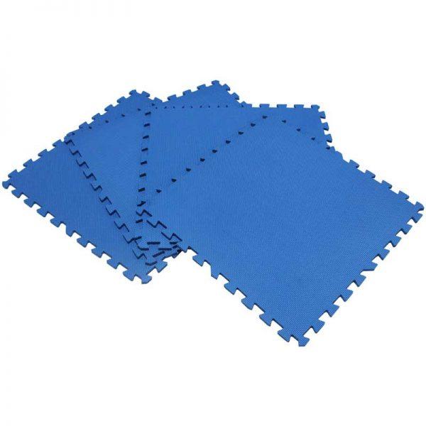 Piso suela de eva foam tipo puzzle. Set de 4 pzas, color Azul