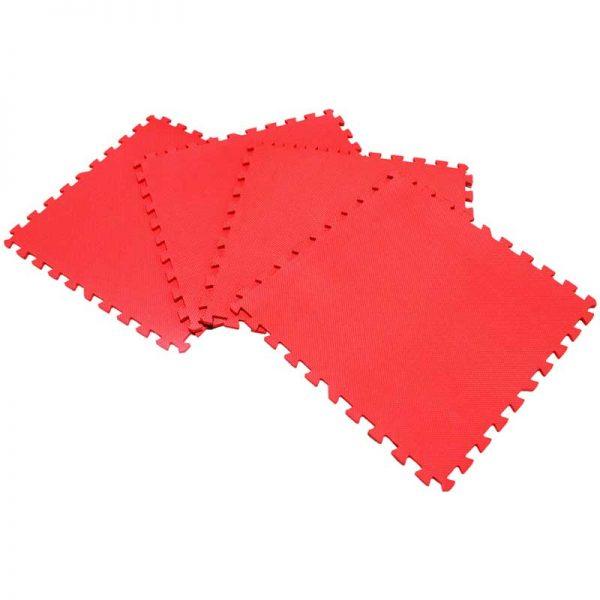 Piso suela de eva foam tipo puzzle. Set de 4 pzas, color Rojo