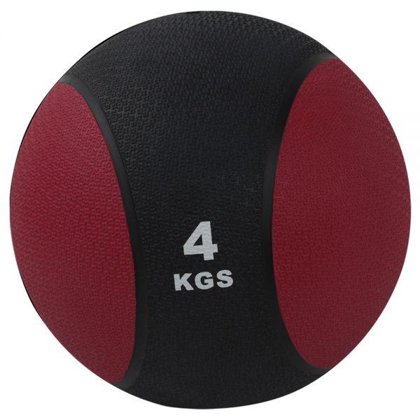 Balón medicinal de PVC 4kg Rojo-Negro