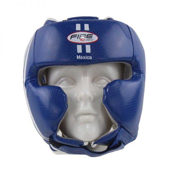 Careta de PVC con protección en pómulos Color Azul-BLANCO (OVALO)