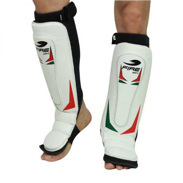 Par de espinilleras de PIEL tipo calceta Tricolor