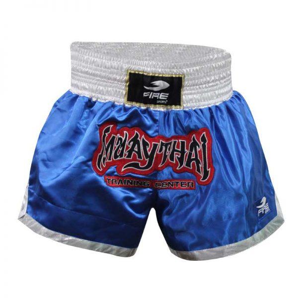 Short deportivo para Muay Thai y Kick boxing (pantalón corto) AZUL