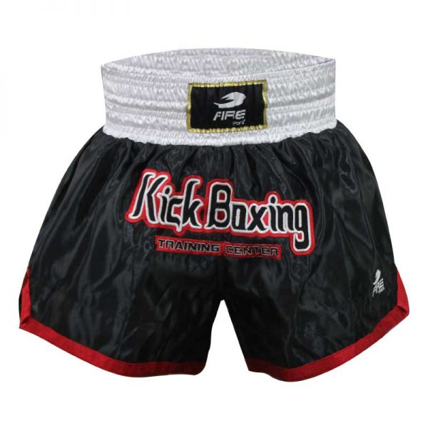 Short deportivo para Muay Thai y Kick boxing (pantalón corto) Negro