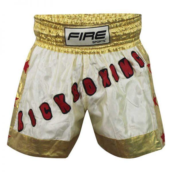 Short deportivo para Kick boxing (pantalón corto) Dorado