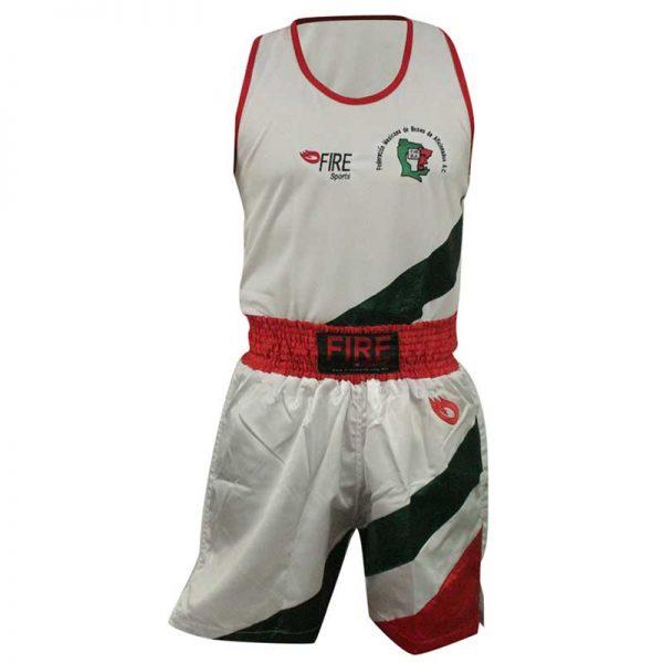 Uniforme de Boxeo varonil tricolor diagonal para entrenamiento