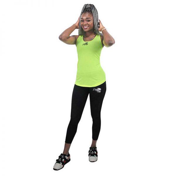 Camiseta o playera deportiva SIN GORRO Fire Sports Femenil Amarillo