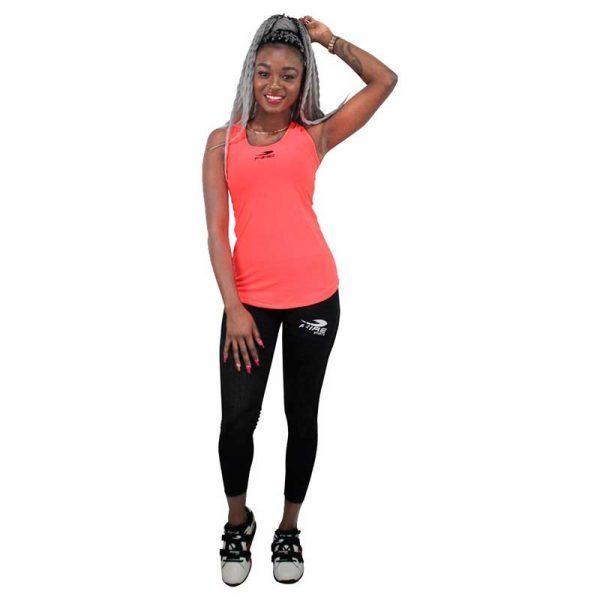 Camiseta o playera deportiva SIN GORRO Fire Sports Femenil Naranja
