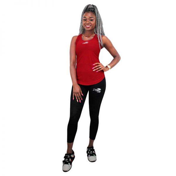 Camiseta o playera deportiva SIN GORRO Fire Sports Femenil Roja