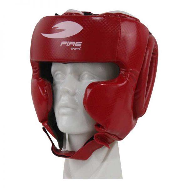 Careta de PVC con protección en pómulos Color Rojo